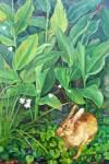Rabbit in Garden 2008 Oil on Canvas 75 x 50 cm